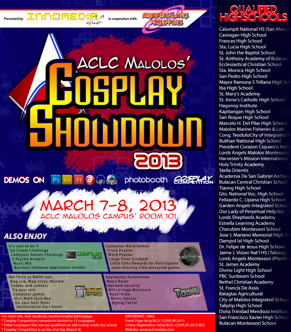 ACLC Malolos Inter-High Cosplay Showdown 2013