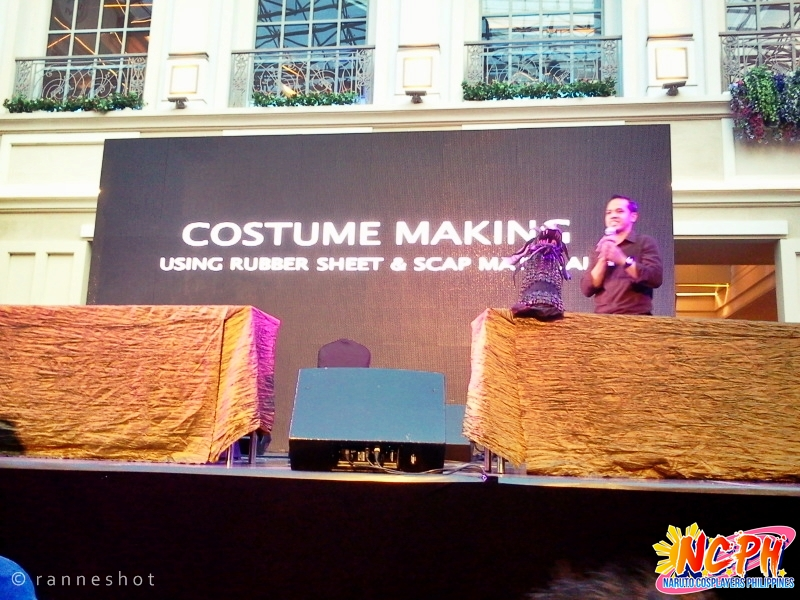 Sir Jay-Ar Buelos as he discussed the tricks and tips about costume making