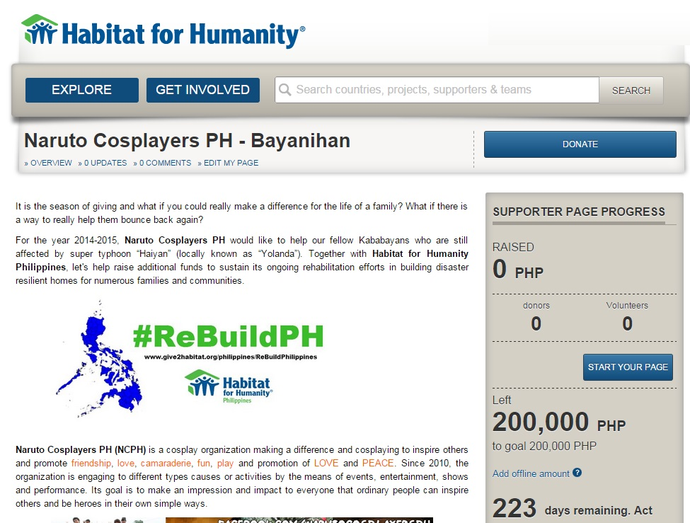 Cosplayers Bayanihan - A CausePlay for Habitat for Humanity