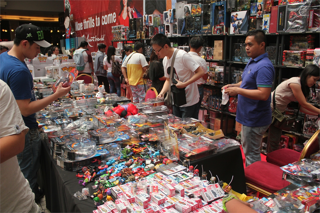 Some collectibles and toys on sale during the event