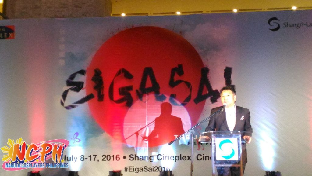 Japanese Director Masato Harada giving a short talk about what to expect for this year's Eigasai.