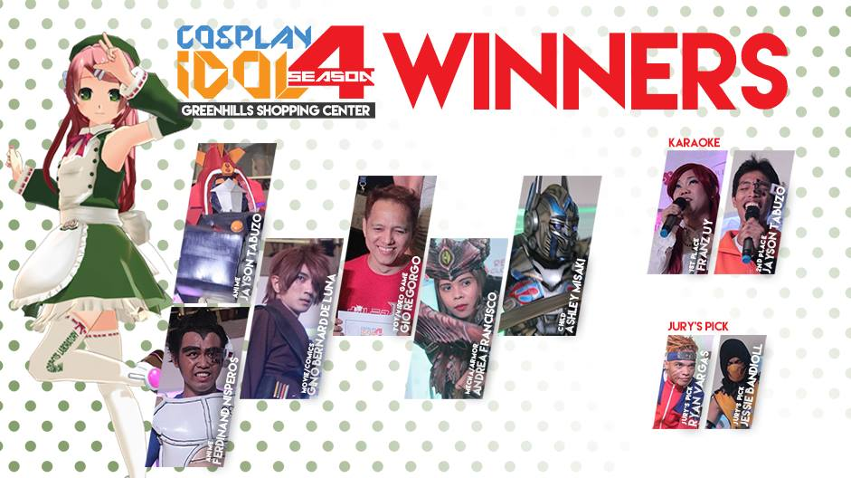 Cosplay Idol Season 4 winners